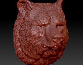 animals model the head of the bear 3D print model