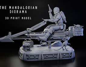 3D printable model The Mandalorian Diorama 1-6 Scale
