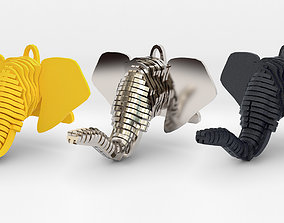 Elephant Head Pendant 3D printable model