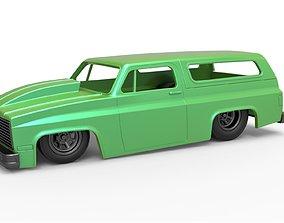 3D printable model Diecast shell Chevrolet Blazer K5 4