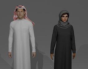 3D SAUDI ARABIA TRADITIONAL CLOTHING STYLE