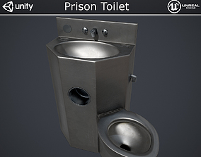 3D asset VR / AR ready Prison Toilet