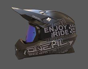 Motocross Helmet N Goggles 3D model