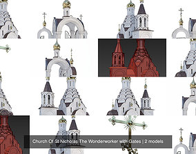Church Of St Nicholas The Wonderworker with Gates 3D model