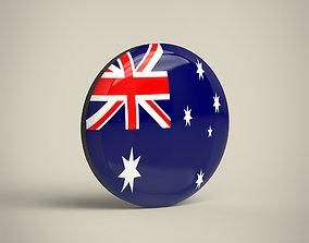 Australia Badge 3D model