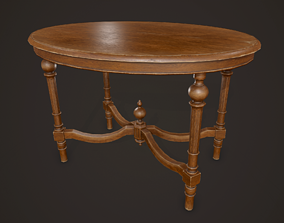 Antique Table - PBR Game Ready 3D asset