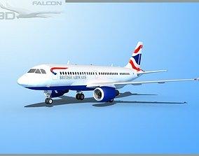 Falcon3D A319 British Airways rigged