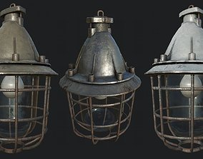 Bunker Ceiling Lamp PBR 3D model