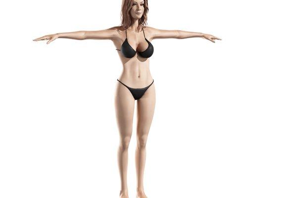 woman in Black Bikini 3D model