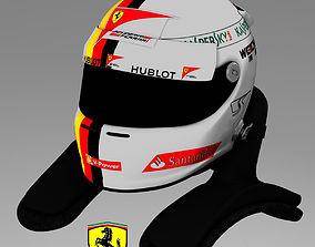 3D model Sebastian Vettel Helmet 2015