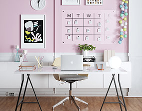 3D interior IKEA HOME OFFICE