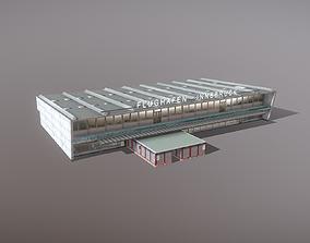 Airport LOWI Terminal Flughafen Innsbruck 3D asset