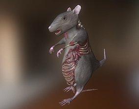 3D model animated Rat Zombie
