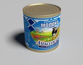 russian modern condensed milk 3D model