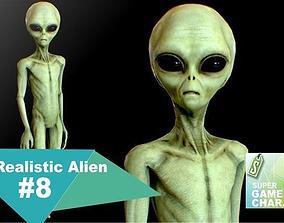 3D asset Realistic Alien 8