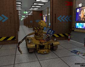 TR127 - Tank Robot 3D asset