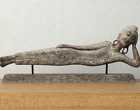 Floating Buddha Figurine 3D model