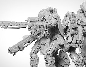 3D print model Scifi Marksman Sniper Rifle Team miniatures