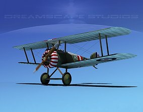 3D rigged engine propeller Sopwith Camel