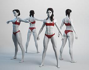 Female Basemesh 07 3D asset