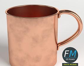 Pure copper tumbler 3D