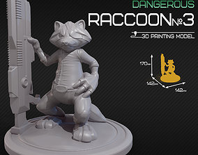 3D print model Dangerous raccoon 3