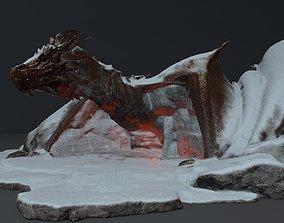 dragon 3D snow