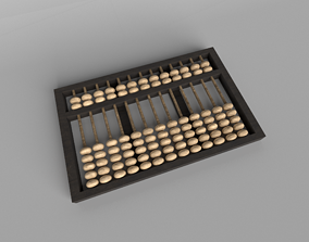 3D asset Chinese Abacus v1 003