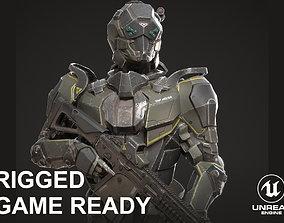 SciFi Soldier Character 3D asset
