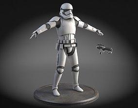 3D model Star Wars First Order Stormtrooper Light