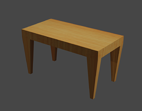 low-poly A Simple Table 3D