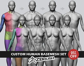 Custom Human Basemesh Set 3D