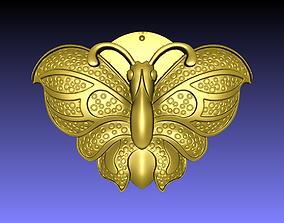 Butterfly 3D printable model flying