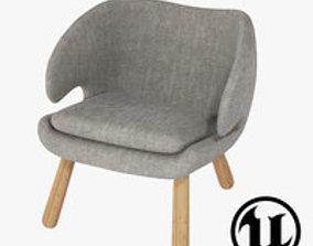 3D model Finn Juhl Pelikan Chair UE4