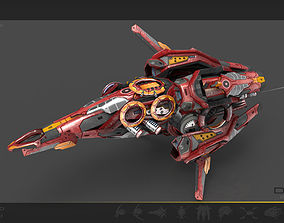 Drone V8 Red Manga 3D asset