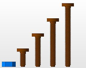 3D printable model M5 screws and nut collection