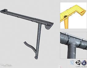 Old Steel Gutter System PBR 3D model