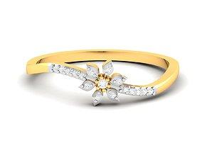 Women Band Ring 3dm render detail platinum gold