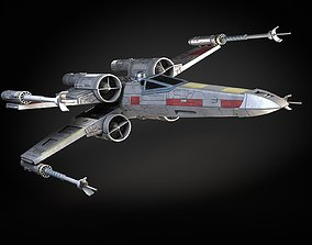 StarWars X-Wing Fighter with Interior 3D model