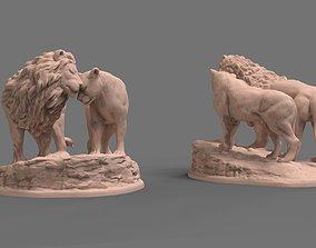 3D print model Lions