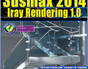3ds max 2014 Iray Rendering Italiano cd front vol