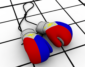 3D print model Manny Pacquiao boxer gloves style