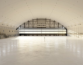 3D model Airplane Hangar Interior 10
