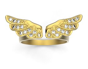 rings 3D print model Ring wings