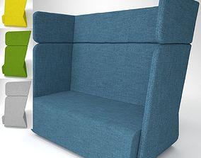Soft Line Basket Sofa Blender Cycles 3D model