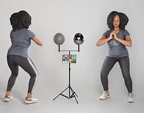 3D asset Woman in sportswear doing exercise 273