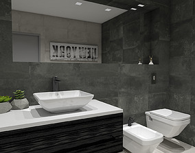 mirror 3D Modern Bathroom