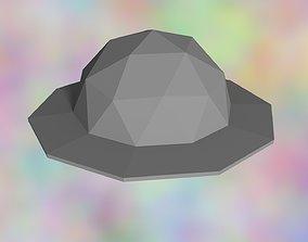 Stylized Bowler Hat 3D asset