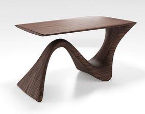 Modern Wood Table 3D asset