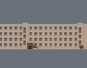 3D asset Barracks Building